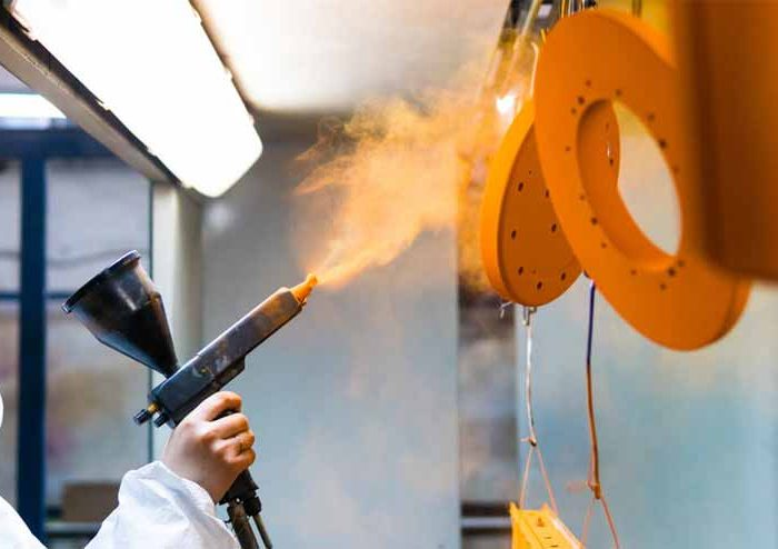 What does the industrial painter do